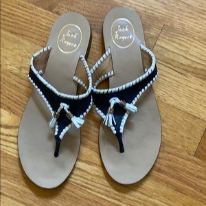Jack Rogers | navy/white sandals, Sz 9.5